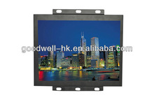 """S-Video VGA Input 4:3 15"""" Open Frame LCD Monitor with Metal Frame"""