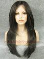 largo de la piel natural sintético superior peluca delantera del cordón de angelina jolie estilo