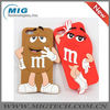 3D chocolate M&M soft silicone mobile phone accessory for iphone 5S, for iphone 5 case with packaging 8 colors China supplier