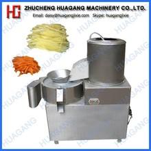 Industrial potato peeling and cutting machine
