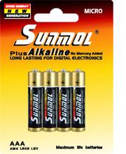 AM4 Alkaline Battery sunmol Manufacturer LR03 AAA