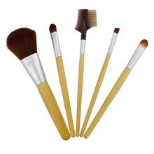 5 pcs noble bamboo cute make up brushes / professional bamboo make up brush / fashionable bamboo cosmetic brush set