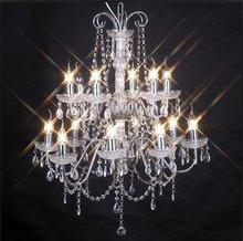 Chromed Big crystal chandelier lighting for wedding decoration NS-120037