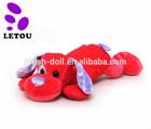 Customized Lying Dog Toy Plush Pink