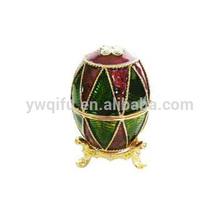 2014 New fashion christmas metal Easter Egg Jewelry Box from china yiwu qifu manufacturer(QF716)