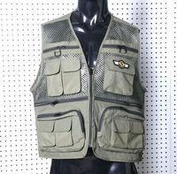 2015 Factory direct sale latest product nylon ventilate pure color fishing vest