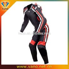 Waterproof Leather Race Suit Leathers Full Armor Knee Pucks