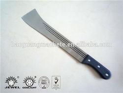 "Machete No.204 18"" bush cutting knife,Plastic handle, 2.0mm thickness high carbon steel blade,CROCODILE BRAND"