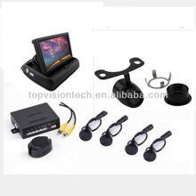 4 sensori auto vista posteriore di parcheggio sensore con 4,3 pollici auto fold fr4312-b monitor