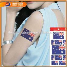 Country Flag Temporary Tattoo,Non-Toxic Tattoo Sticker,Heart Temporary Tattoo