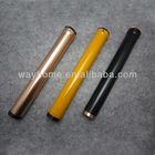 Aluminium metal copper cigar holder, metal cigar tube travel humidor with mini humidifier