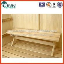 Convenient and cheap sauna accessories sauna room use pine wood portable steam bath bench