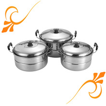 3 pcs Stainless Steel steamer set