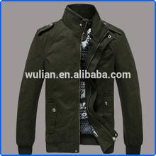 Slimming Epaulet Design Coat, Thicken Stand Collar Coat, Long Sleeve Polyester Coat