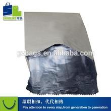 Logotipo de alumínio de prata malogrado embalagem para pão de cachorro-quente