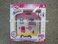 2014 nueva moda de color rosa de plástico de plástico casas para los niños