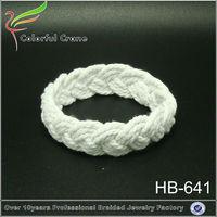 Fashion popular pure hand catenary braided cotton cord bracelets hemp bracelet
