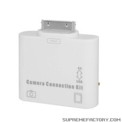 For iPad 2 2 in 1 USB SD Card Reader