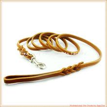 China Genuine Leather braided dog pet training leash