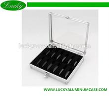 12 Grid Slots Jewelry Watches Display Storage Box Case Aluminium Square