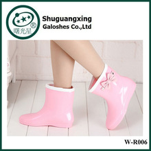 European and American fashion waterproof boots shoes four seasons snow and rain W-R006