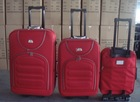 yiwu cheap stock 3pcs outer iron trolley luggage set overstock travel bag