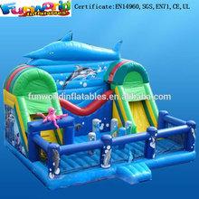 Hot Sale Ocean Shark Fun City Inflatable Jumping Bouncer