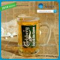 Coupe du monde verre clair Transparent bière bong avec Decal