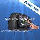 7 inch touch screen car dvd headrest with ir headphone /audio /usb/ sd /tv