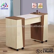 Salon nail technician tables for sale/manicure table nail bar wholesale/nail manicure marble top table KM-N033