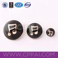 símbolo de la música de epoxy botones de metal para la ropa