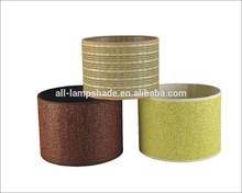 colourful paper knitting lamp shade