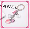 2014 Fashion New Alloy Metal Enamel Flower Custom Promotion Key Ring