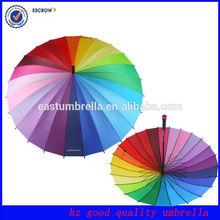 super nice 24 colors colorful wedding umbrella for rain