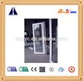 Puertas abatibles de pvc de alta calidad y precio competitivo, de vidrio doble de pvc con bisagras de la puerta
