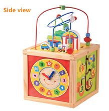 5 in 1 Intelligent Playing Cube Wooden educational toy for kids 18 months