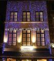 edificio del hotel borla led luces de la decoración de la pared