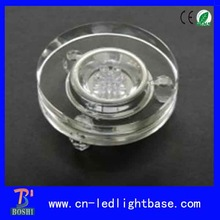 transparent round led light bases glass