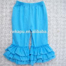 New style girls chevron ruffle pants baby frock design