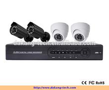 Color COMS 700TVL camera, H.264 4CH CCTV DVR Kit ,4 IR Waterproof Cameras