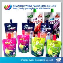Food grade OEM order welcomed plastic bag juice
