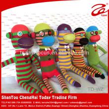 Sock monkey custom plush toy