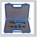 T03c-5d coaxial de prensa kit de herramientas para prensar cable coaxial con 5 juegos de troqueles