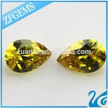 Hot sale aaa teardrop loose diamond stone man made fake gemstones in Wuzhou