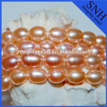 Purple grade AAA fresh water pearls strand