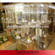 Scaled interior model using transparent ABS plastic