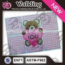 Shining cute love design bling rhinestone crystal diamond case for lpad
