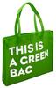 Bespoke screen printed NWPP bags Grande Two Tone Large Grocery Tote Bags