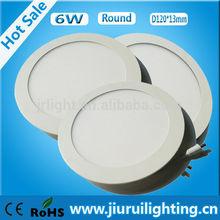Hay muchos tipos ronda luz 6 w blanco ultra delgado panel de luz led