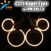 High Quality CCFL Angel Eyes For Golf 5 Headlamp Lighting